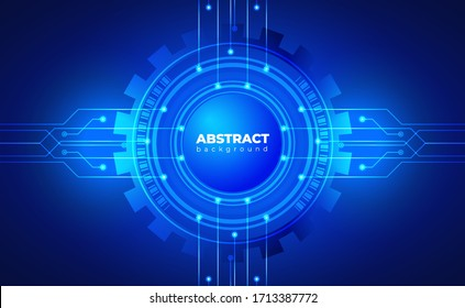 technology background. neon effect. circuit board concept. Gear Wheel Mechanism. button. Hi-tech digital technology and engineering. Digital technology backdrop. Vector illustration