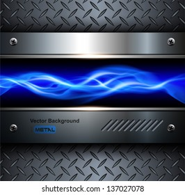 Technology background,3D steel metallic, abstract vector.