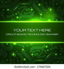 Technology banner with space for your text. Vector illustration for your business presentations.