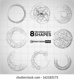 Technology circle shapes. Vector eps10