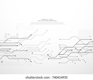 technology circuit board background with dynamic lines