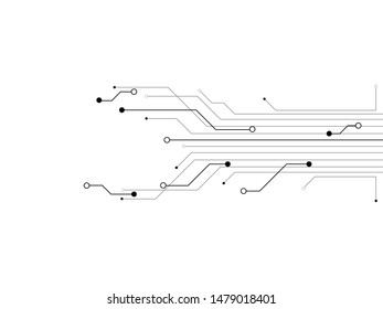 Technology Circuit Design Vector Illustration.