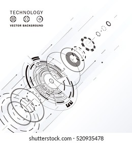 Technology composition  structure abstract background.
