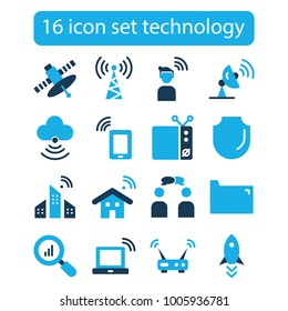 Technology, computer, innovation, science, information, cloud network line icons, Flat design vector illustration symbol concept,Linear signs isolated