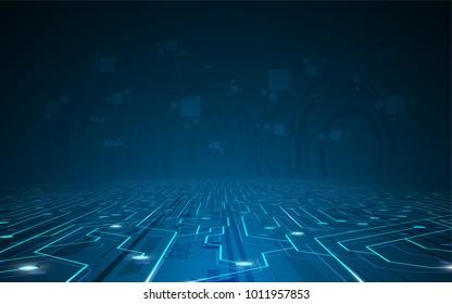technology concept background sci fi design EPS 10 vector