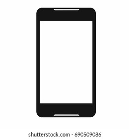 technology and it  concept - icon phone white screen vector illustration isolated on white background and copyspace
