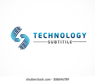 technology data concept logo