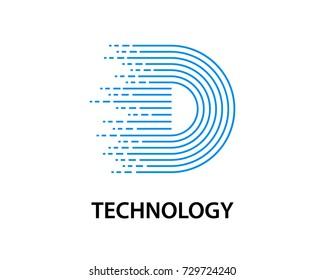technology data logo template design