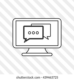technology design. computer icon. Colorful illustration , vector