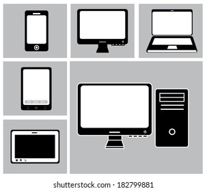 Technology design over gray background, vector illustration
