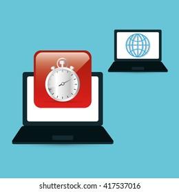 Technology design. social media icon. laptop concept