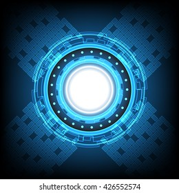 technology digital abstract background vector illustration