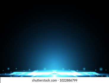 technology digital future abstract background, modern light rectangle stripe with copy space for text, vector illustration.