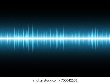 technology digital future abstract background; wave signal oscillating light and binary with copy space, vector illustration.