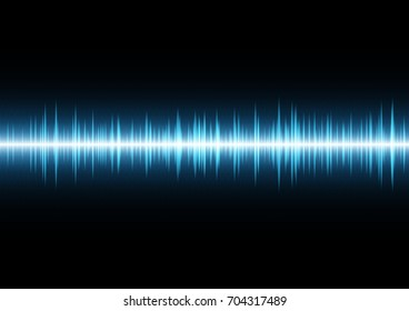 technology digital future abstract background, wave signal oscillating light and binary with copy space, vector illustration.