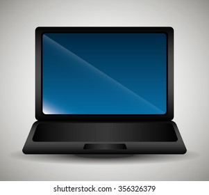 Technology and electronic devices graphic design, vector illustration