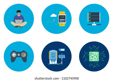 Technology Flat Icon Design