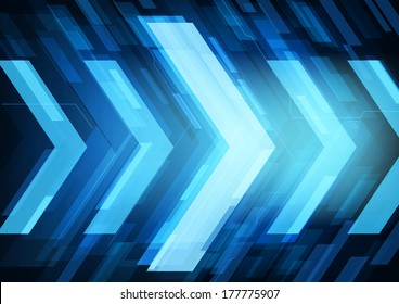 Technology future arrows abstract vector background, moving forward concept
