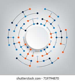 Technology and futuristic abstract background,digital illustration.Vector network and connection concept.Modern connecting dots.