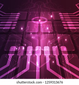 Technology futuristic digital. technology circuit board. technology chipset. abstract background. Vector