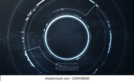Technology futuristic hexagonal abstract computer system access background vector design