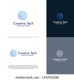 Technology globe logo designs template, World Tech logo tmeplate
