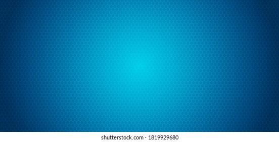Technology hexagon pattern blue background vignette light. vector illustration.