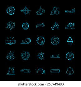 Technology hologram design element
