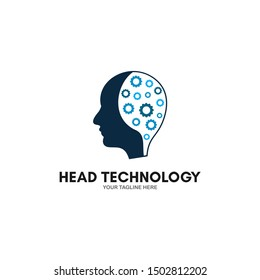 Technology Human Head Logo Icon Design