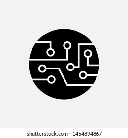 Technology Icon. Circuit Board Sign & Symbol - Logo Template.,