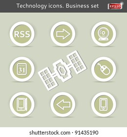Technology icons. Business set