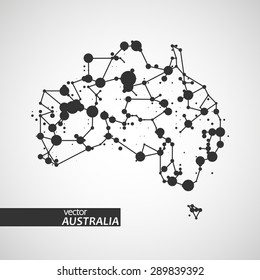 Technology image of Australia. The concept vector illustration eps10