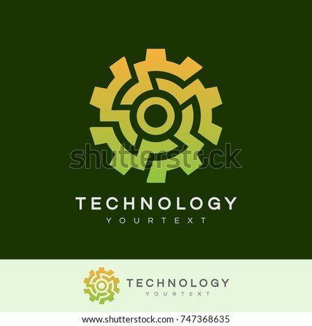 technology initial letter o logo design