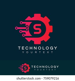 technology initial Letter S Logo design