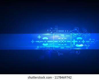 technology innovation background. illustration vector.