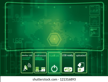 technology interface background