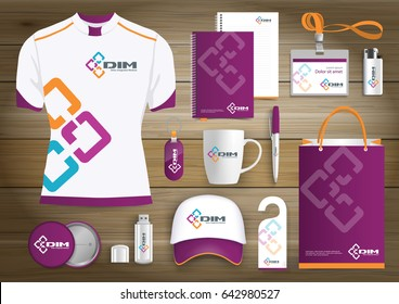technology link network Gift Items, logo Color promotional souvenirs design for link corporate identity with technology lines. human people community union Stationery set, digital tech template.
