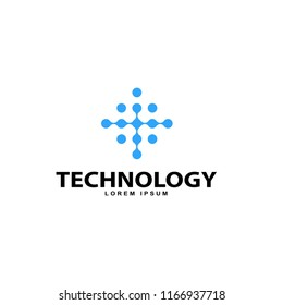 technology logo design vector template