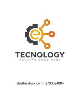 Technology Logo Design Vector Template