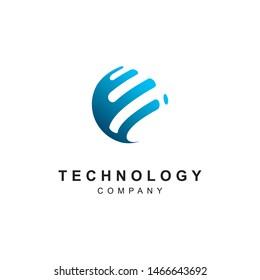 Technology logo design.Abstract tech icon vector template
