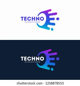 Technology Logo designs template, Connecting logo symbol template
