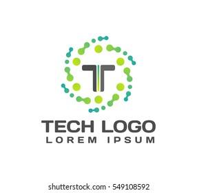 Technology logo. Technology Icon. Tech logo. Network Icon. Business, Connect, Network Logo. Biotechnology Concept. Molecule, Atom Icon.