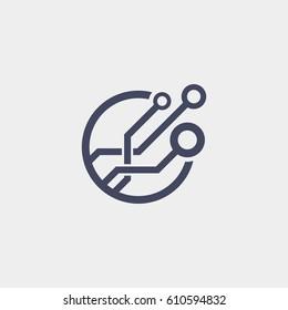 Technology logo. Tech logo icon.