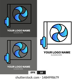 Technology logo template for company or personal