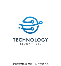 Technology logo template vector illustration