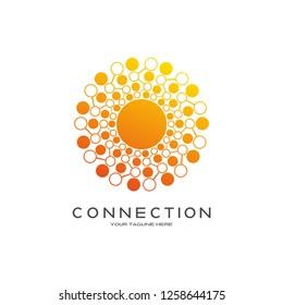 technology logo templates, vector logos for business corporate , element , vector logo technology ,emblem or symbol,creative tech icon design.illustration element