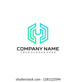 Technology logo vector template design.