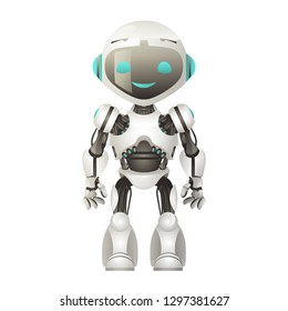 Technology mechanical artificial intelligence future robot scifi science fiction design 3d vector illustration