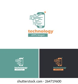 Technology Mobile Phone Concept Vector Icons, Logos, Sign, Symbol Template