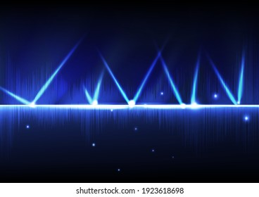 Technology music wave, abstract background vector illustration